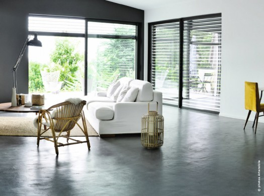 Le b ton cir cr ateur d effets d co traits d 39 co magazine - Beton cire sol interieur ...