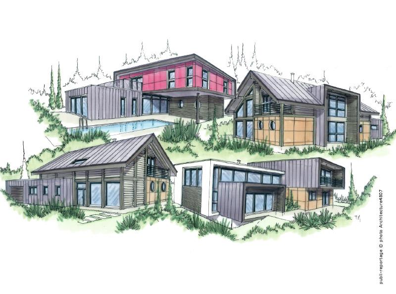 Maisons cologiques ossature bois et m tallique for Maison modulaire ecologique