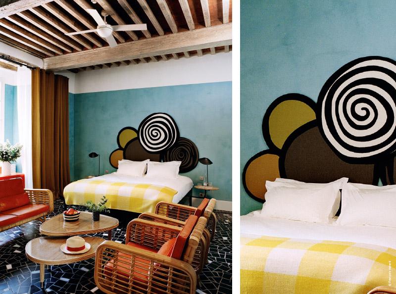 arles h tel du clo tre l art des contrastes par india mahdavi. Black Bedroom Furniture Sets. Home Design Ideas