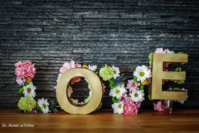 Des lettres fleuries