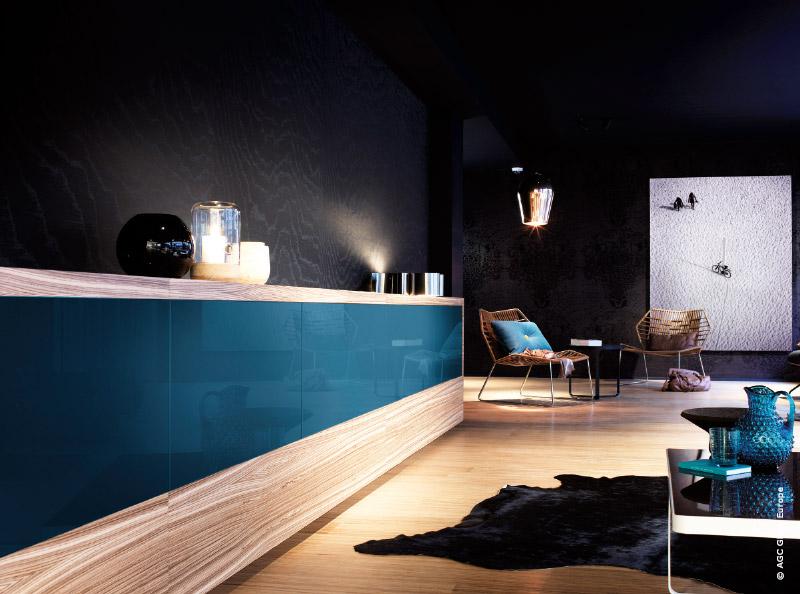 Deco-verre-Blue Petrol - Gamme Lacobel