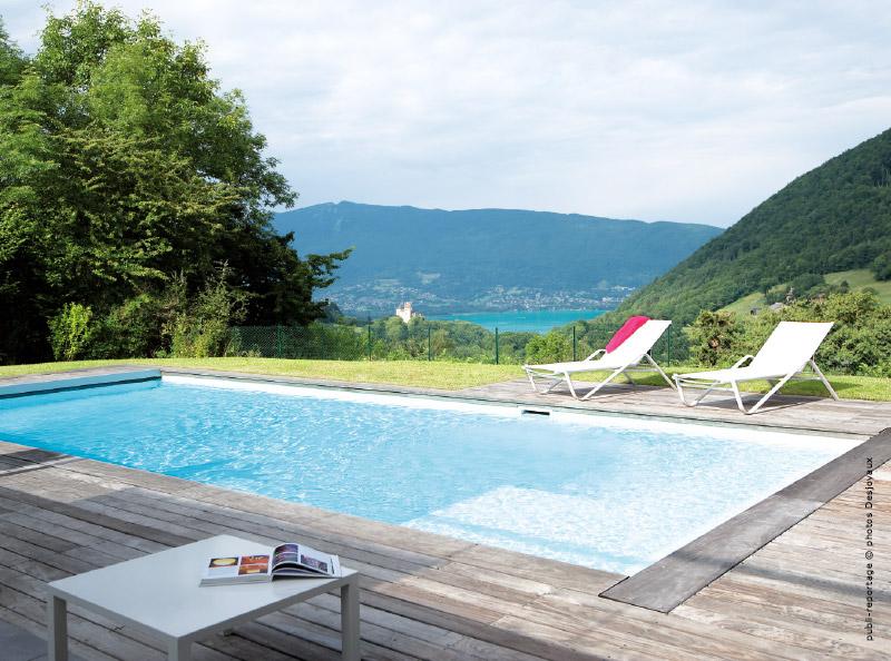 Une piscine dans le jardin pour l 39 t annecy - Mini piscine desjoyaux ...