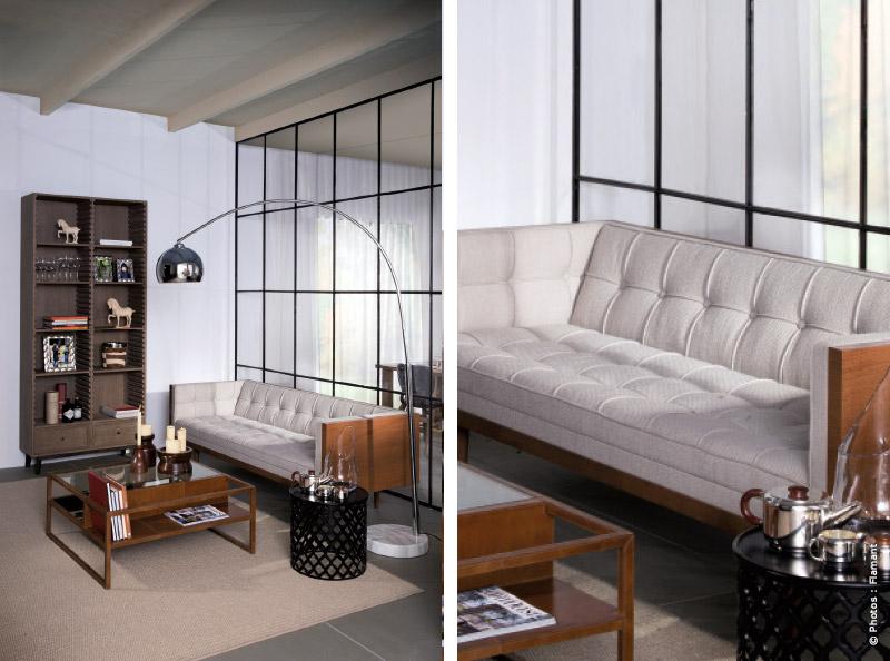 meuble flamant mariage du bois et du m tal. Black Bedroom Furniture Sets. Home Design Ideas