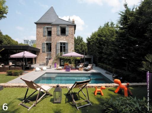 10 piscines de r ve avec traits d 39 co blog habitat - Carre bleu piscine prix ...