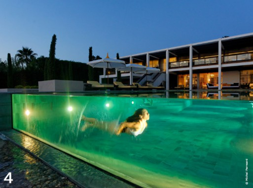 10 piscines de r ve avec traits d 39 co blog habitat for Concept piscine design