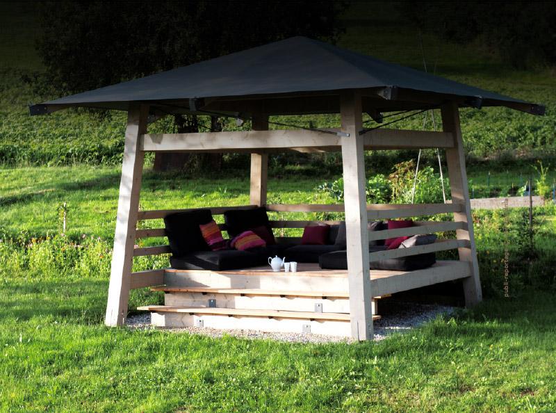 Pavillon Et Abri De Jardin Sur Mesure En Bois Traits D 39 Co
