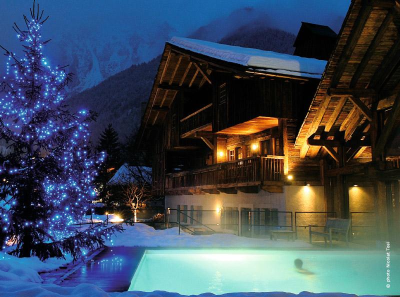 S jour de luxe chamonix avec traits d 39 co magazine for Hotel mont dore avec piscine interieure