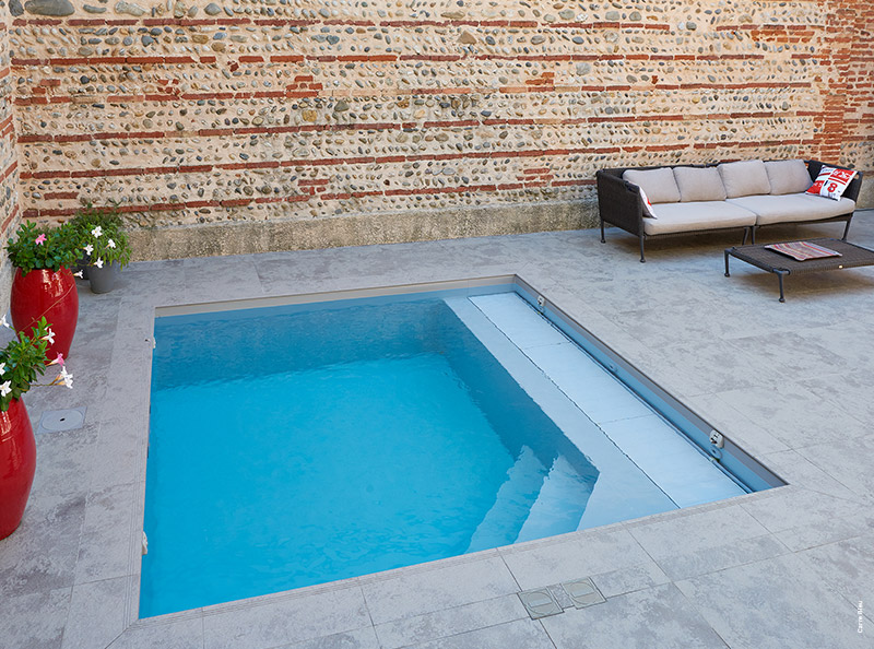 Mini piscine design maxi d tente tour d 39 horizon par for Bassin tampon piscine