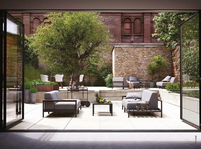 Mobilier outdoor design destination soleil avec la for Mobilier exterieur teck