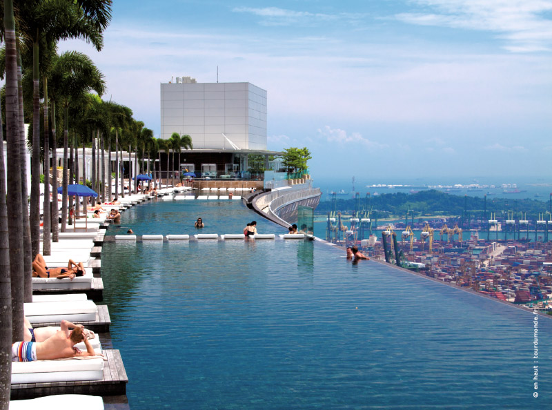 Visite du marina bay sands singapour avec traits d 39 co for Singapour hotel piscine sur le toit