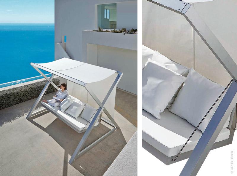 Outdoor a balance pas mal traits d 39 co magazine - Balancelle de jardin en aluminium ...