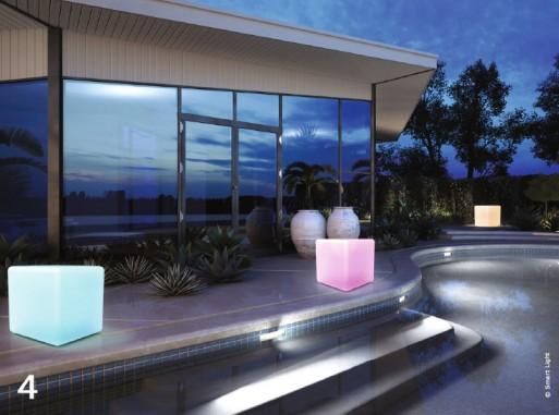 Jardin design lumineux belles de nuit traits d 39 co for Baladeuse design exterieur