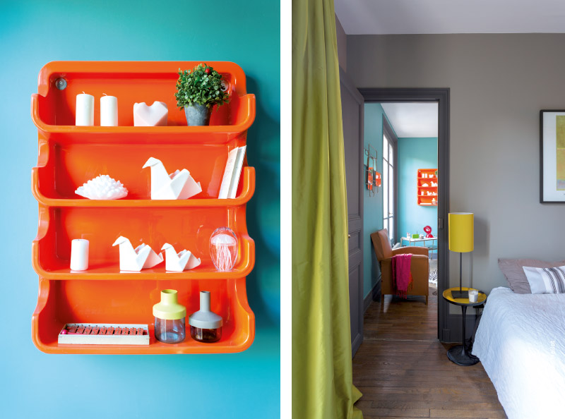 Petit appartement design paris : décoration vintage