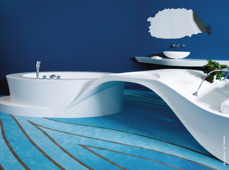 salle de bains les solid surface se plient nos envies traits d 39 co magazine. Black Bedroom Furniture Sets. Home Design Ideas