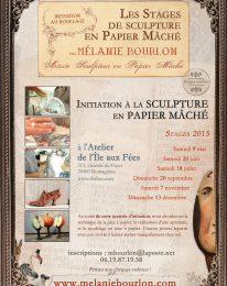 Initiation au modelage en papier mâché – Juin 2015