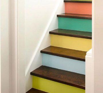 Marches d'escaliers relookées