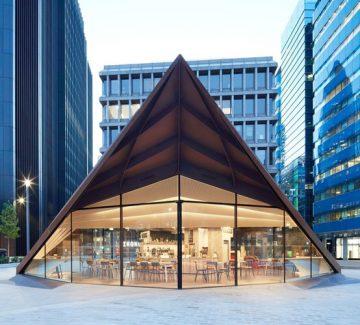 Le nouveau pavillon monocoque pour la ville de Londres
