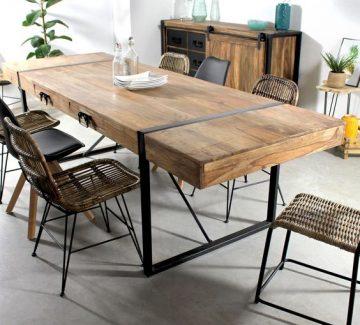 Ces tables en bois