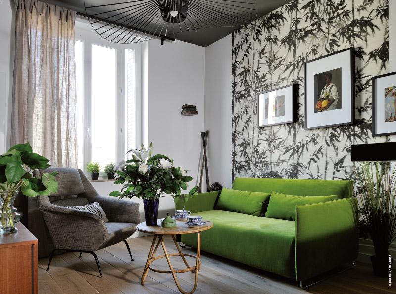 Appartement lyonnais deco design visite traits d 39 co magazine for Appartement design deco