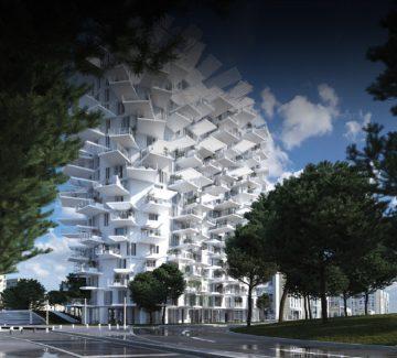 L'Arbre Blanc à Montpellier : folie architecturale