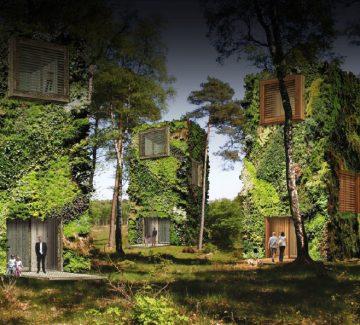 Logements futuristes : une oasis érigée en cœur de ville