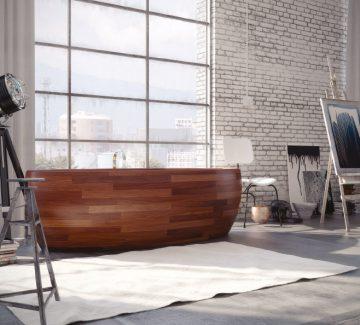 Baignoire en bois : un bain en première classe