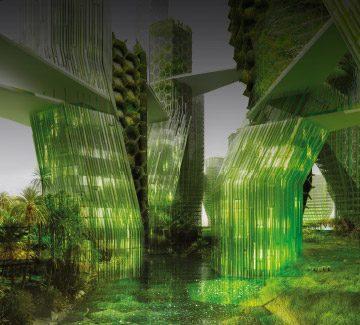 La ville du futur se pare de micro-algues