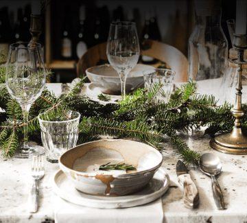 DIY table de Noël : la nature à l'honneur