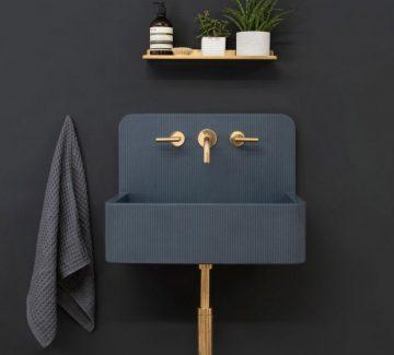 Les lavabos minimalistes de Kast Concrete Basins