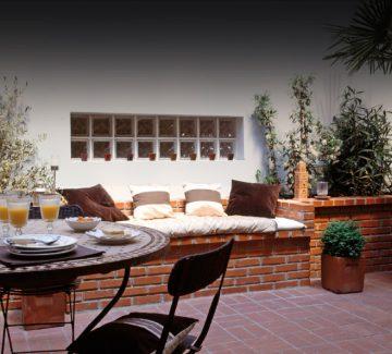 Loft avec patio : l'accord parfait
