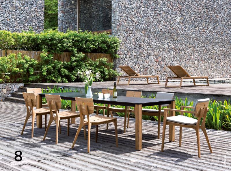 OUTDOOR : mobilier pureté graphique
