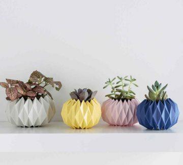 Cache-pots en origami