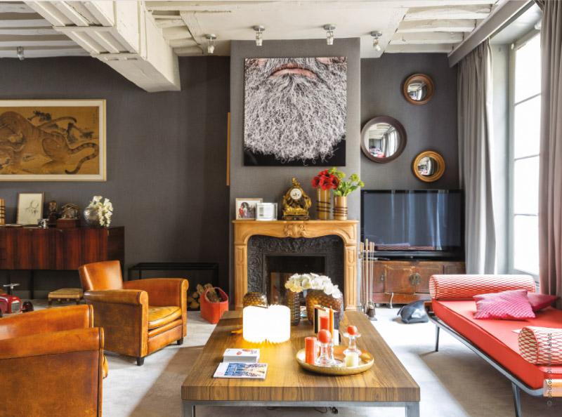 un duplex haut en couleur traits d 39 co magazine. Black Bedroom Furniture Sets. Home Design Ideas