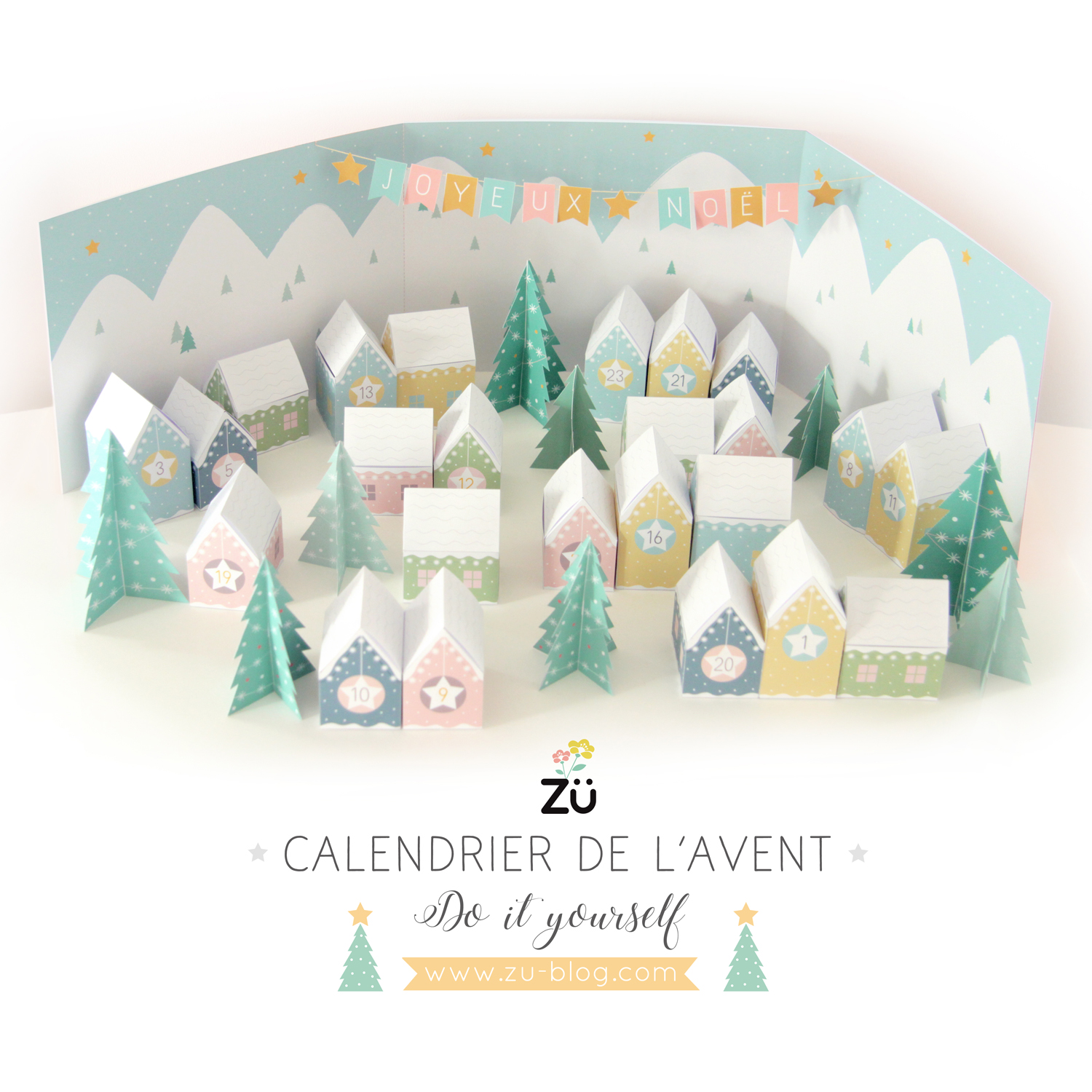 Calendrier De L Avent Pinterest.Diy Calendrier De L Avent Blog Traits D Co Magazine