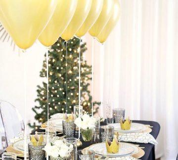 Une table festive pour un Nouvel An tendance