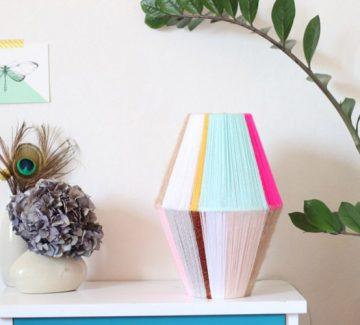 DIY lampe en laine