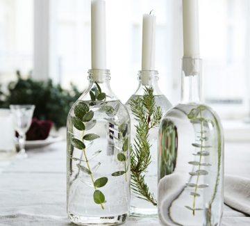 Un bougeoir en bouteille recyclée