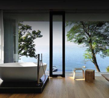 Une maison d'architecte avec vue sur le lac Léman