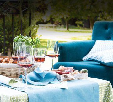 Tables ensoleillées : nappes d'été