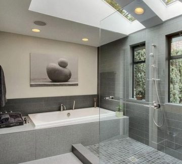 De la transparence dans la salle de bain !