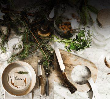 Table de fêtes nature : retour aux sources