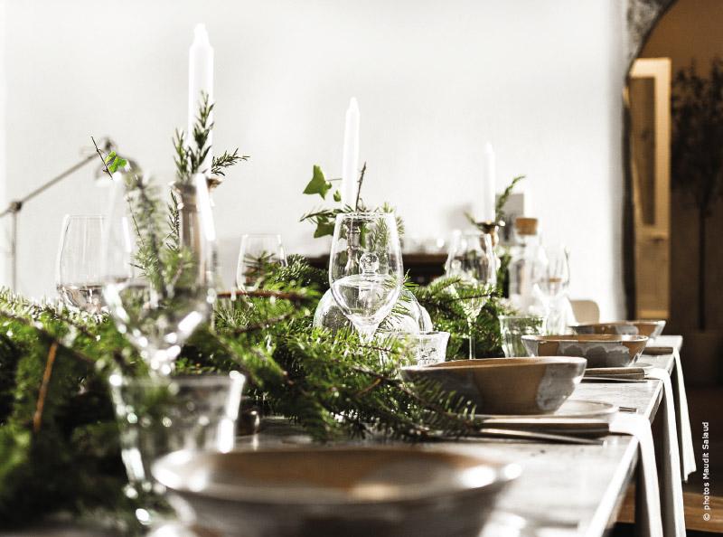 table de fête nature